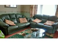 Two 3seater leather settees sofas