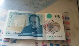 AA05 £5 note RARE COLLECTABLE. First batch of notes released!