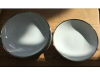 Thomas Germany white silver rimmed side plates (8) and bowls (7)