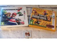3 x Nintendo 3DS Game Bundle - Mario Kart 7, Super Mario Bros 2, 3D Land - EUC