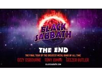 Black Sabbath- Final Ever Concert- Saturday 4th February 2017