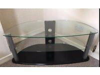 Glass TV Display Stand