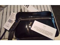 DKNY Bryant Park Saffiano Wristlet Purse, Black (brand new with tags)