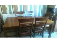 Walnut Dining Table & 6 Chairs ** cheap for quick sale **