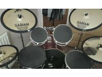 Mapex Drum kit incl Sabian XS Cymbals and Premium silencer pads