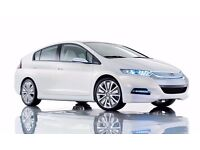 From £90 Pco cars uber ready and mini cabs Toyota Prius and Honda Insight hybrid ford galaxy