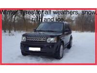 WINTER TYRES 255/50-R20 for Land Rover Discovery 4 or 3, with set of 4 original alloy premium wheels