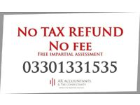 Tax refunds no win no fee basis with free consultantion