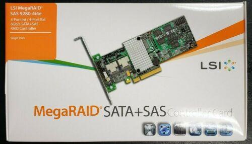 Brand New LSI MegaRAID SAS 9280-4i4e 6Gb/s SATA+SAS RAID Controller LSI00209