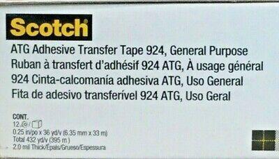 3m Scotch 924 Atg Adhesive Transfer Tape 14 X 36 Yards Clear 12 Rolls New