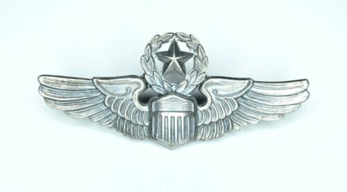 Rare Maker DONDERO Post WWII U.S. Air Force Command Pilot Wings ~ Sterling ~ 2""