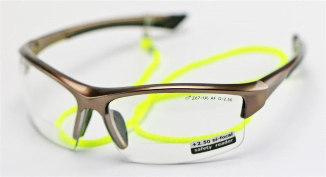 Elvex Sonoma™ RX350™ Bifocal Safety/Reading Glasses Clear 1.0 to 3.0 Mag KIT1 +2.50 strength
