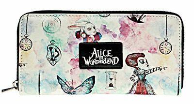 Alice in Wonderland Characters Themed Hand Purse Zip Around Clutch Wallet - Characters In Alice In Wonderland
