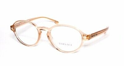 Versace Eyewear 3259 5215 50.20 140 Transparent Brown Oval Women's Frames