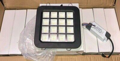 """(20) x LED 7-1/8"""" x 7-1/8"""" Black Aluminum Ceiling Light Panel 16W, Pure White"""