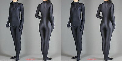 Full Body lycra spandex zentai Black costume suit With Penis---Wholesale Price](Suit Penis)