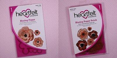 Heartfelt Creations BLAZING POPPY Stamp & Die Set Flowers HCD1-764 HCPC-3674