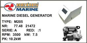 VETUS 7.5kW MARINE DIESEL GENERATOR M205. $2750 Manly Brisbane South East Preview