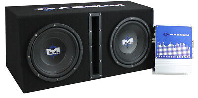 MTX Magnum MB210SP 10-Inch 400W RMS Dual Loaded Subwoofer Sub Box System Package ()