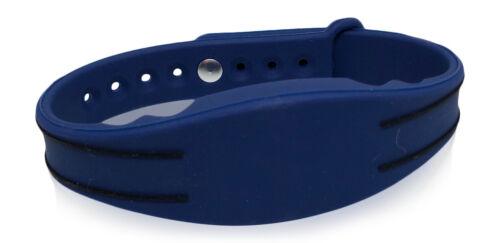 5 RFID Prox Wristbands 26 Bit Wiegand H10301 125 kHz--Blue & Black, Adjustable