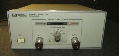 Hp 8347a Rf Amplifier 100 Khz To 3 Ghz Woperating And Service Manual Copy