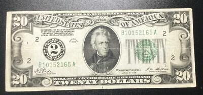 1928 20 Redeemable In GOLD BIG 2 New York X165 VG/FINE Old US Currency  - $81.00