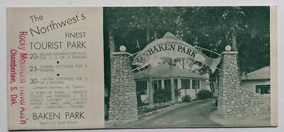 VINTAGE BAKEN PARK, RAPID CITY, South Dakota ILLUSTRATED ADVERTISEMENT BROCHURE