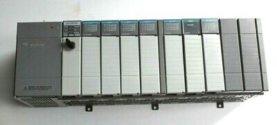 Allen Bradley Slc 504 Cpu 1746-p2 Power Supply 1746-a10 Chassis W Modules