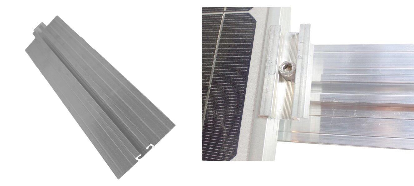 Solar Trapezblech Befestigung Set: Schiene+ Mittelklemme Blechdach PV Alu Halter