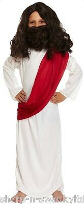 Boys Joseph Jesus Christmas Nativity Easter Religious Fancy Dress Costume Outfit