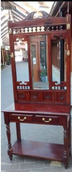 Coat standHat standin Chulmleigh, DevonGumtree - Coat stand with two drawers and mirror. Height 210cm, width 91cm, depth 41cm