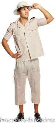 Herren Erwachsene Safari Explorer Dschungel Party Kostüm Kleid (Safari Explorer Kostüm)