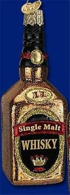 Single Malt Liquor (SINGLE MALT WHISKY BOTTLE OLD WORLD CHRISTMAS LIQUOR ALCOHOL ORNAMENT)