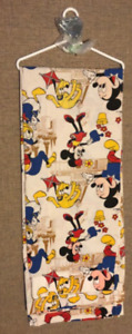 Vintage Walt Disney Mickey/Minnie Mouse Fabric Curtains/Drapes