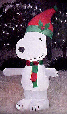 Gemmy Peanuts 3.5' Inflatable Snoopy Air-blown Snoopy Christmas Yard Decor