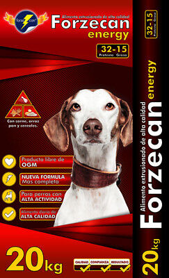 Pienso de ALTA ENERGÍA para perros adultos FORZECAN ENERGY 20 Kg