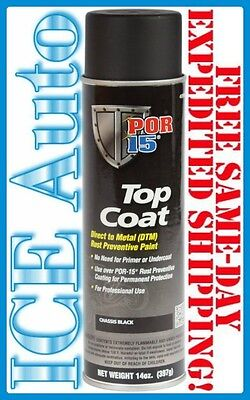 3 Day Sale  Por 15 Top Coat Chassis Black   14 Oz Aerosol   Spray Can
