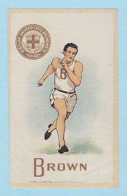 c1910s S22 tobacco silk BROWN UNIVERSITY Runner ( Track )