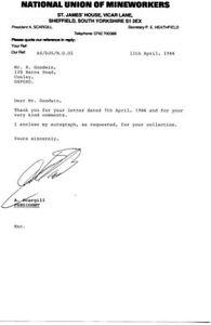 ARTHUR SCARGILL Labour Politician Autograph Signed LETTER UACC & AFTAL DEALER