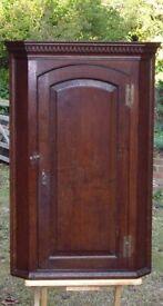 Antique Oak Wall Cupboard