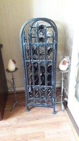 Wrought Iron Wine Cabinet