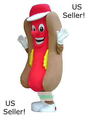 Hot Dog Fast Food Restaurant Mascot Costume Advertising Sale Adult -US - Hot Dog Mascot
