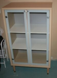Display Cabinet with Glass Doors for Sale $70
