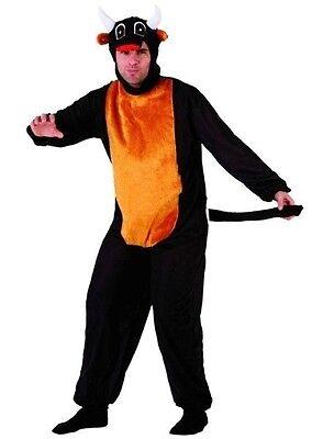 Costume Adulto Uomo Toro M/L Abito Adulto Motivo Animato Animal Nuovo