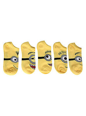 DESPICABLE ME Five Pack Of Adult Low Cut Socks NEW wt - Minion Adult Socks