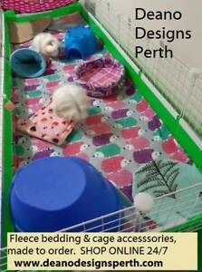 Fleece cage liners and accessories - made to order