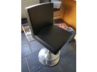 4 x bar stools / breakfast chairs - adjustable, black