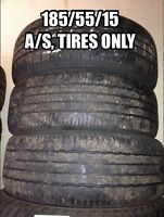 185/55/15, Three all season tires