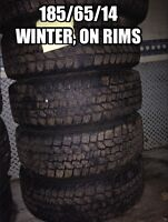 185/65/14, Four winter tires with rims