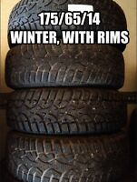 175/65/14, Winter tires with rims
